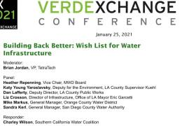 VX2021 - WATER - Opening Remarks & Wishlist for Water Infrastructure