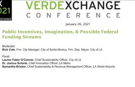 VX2021 - URBAN MOBILITY- Public Incentives, Imagination & Possible Federal Funding Streams & Funding Streams