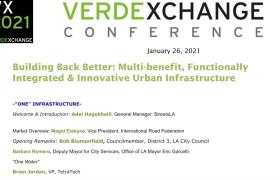 """VX20201 """"ONE INFRASTRUCTURE"""" Building Back Better: Multi-Benefit, Functionally Integrated & Innovative Urban Infrastructure"""