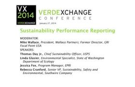 Sustainability Performance Reporting